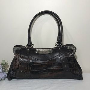 Ripani Croc Embossed Italian Leather Bag Bling